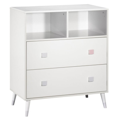 Candie - commode 2 tiroirs,...