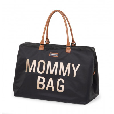 Mommy bag - large black gold