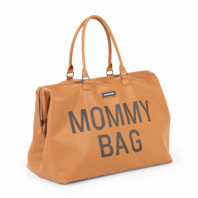 Mommy bag - simili cuir brun